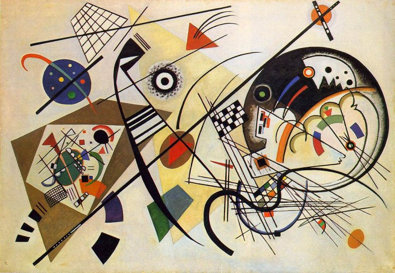 Famous Art Using Line : Art lesson the of kandinsky and use lines